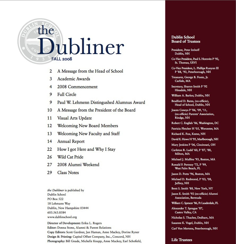 The Dubliner — Dublin School