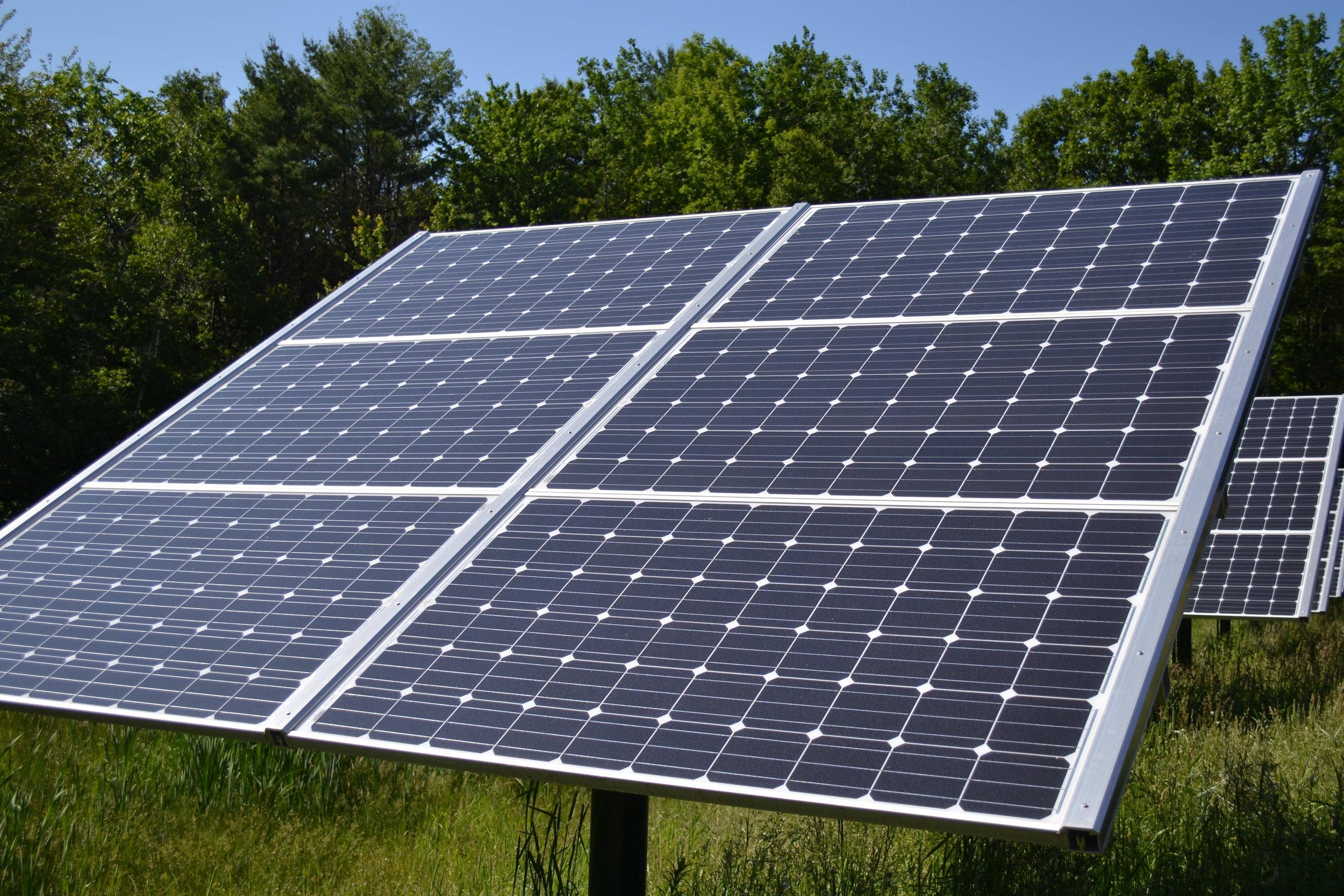 Fixed tilt solar array similar to those to be installed at Dublin School.