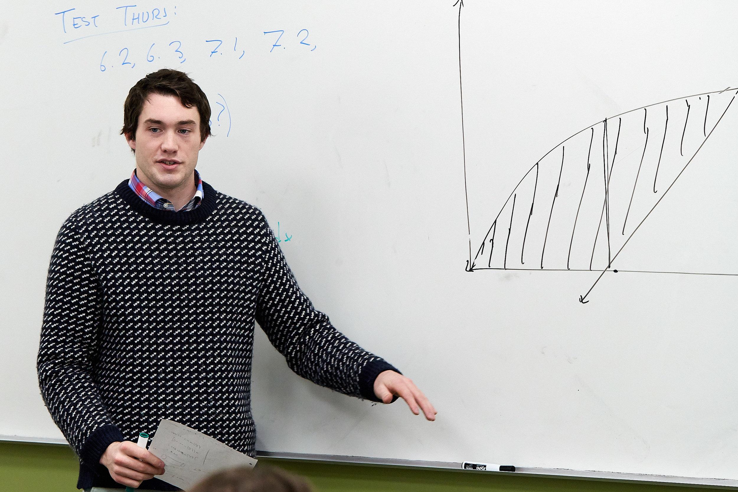 Denis Maguire teaching AP Calculus.