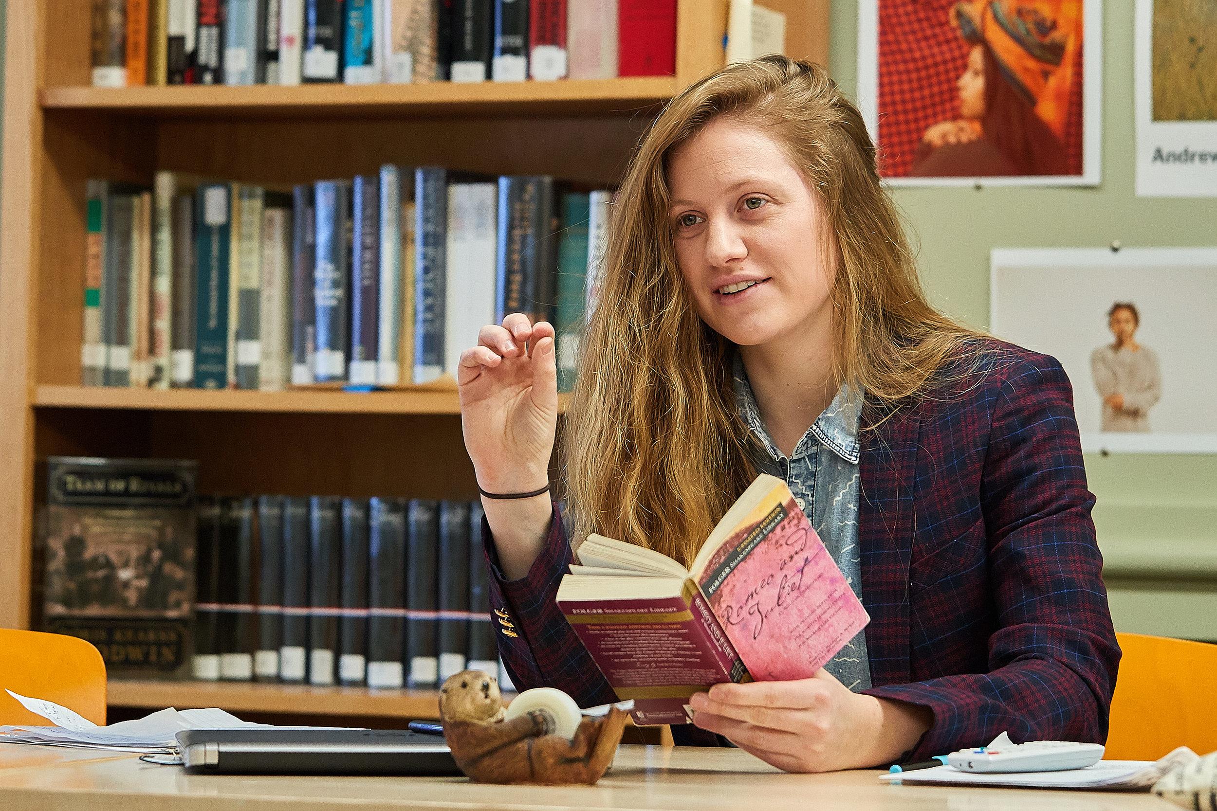 Sophia Rabb teaching Romeo and Juliet in English 9