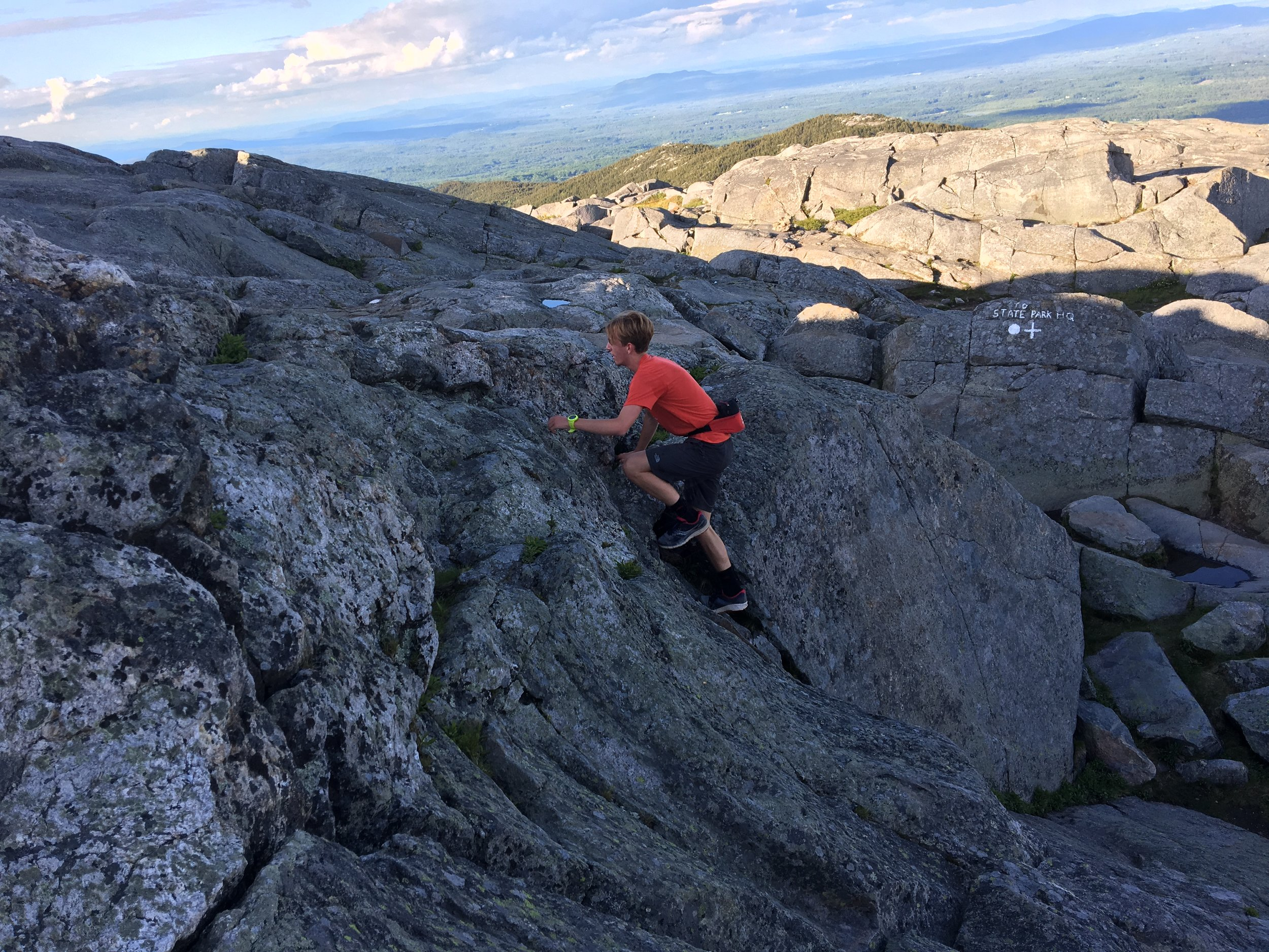 Clint must have set a new school record by summiting in just over 30'!