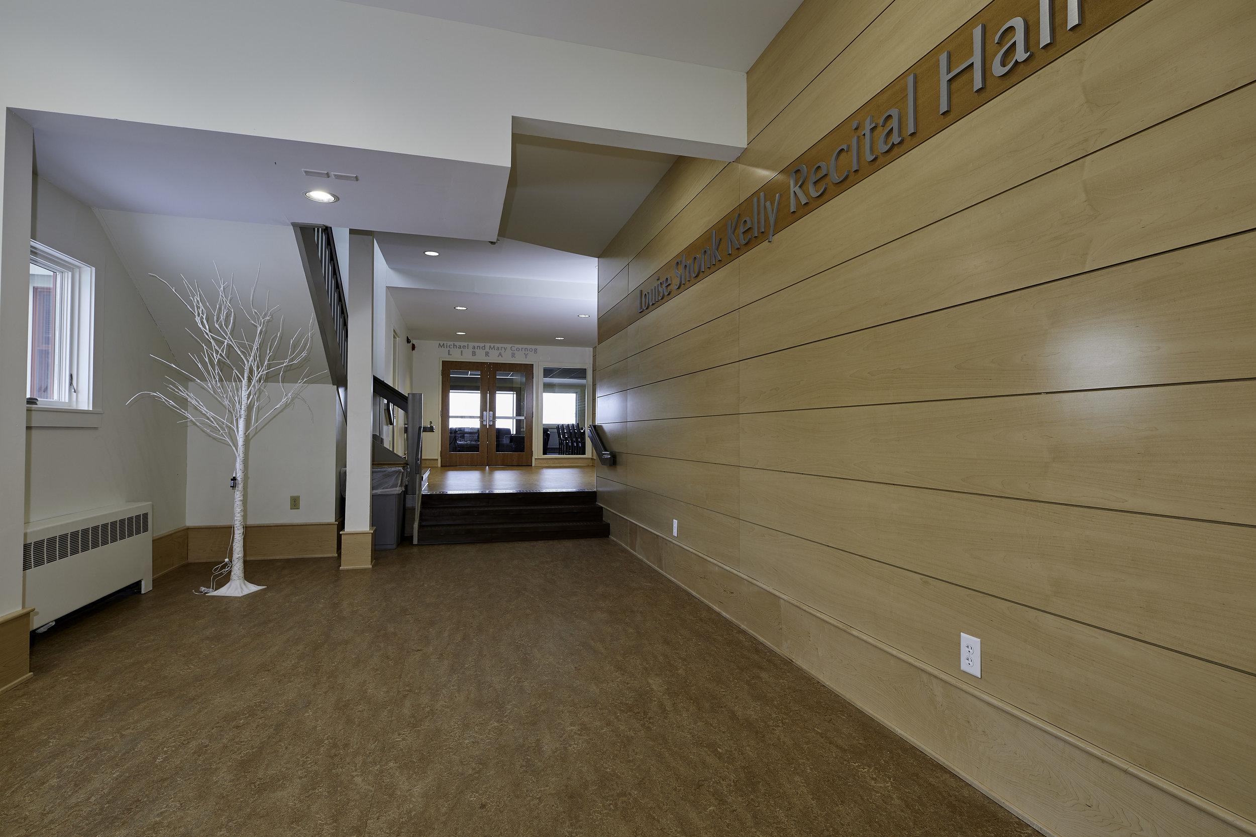 Louise Shonk Kelly Recital Hall Lobby