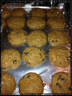 These don't look done, but this is what they should look like when they come out of the oven.