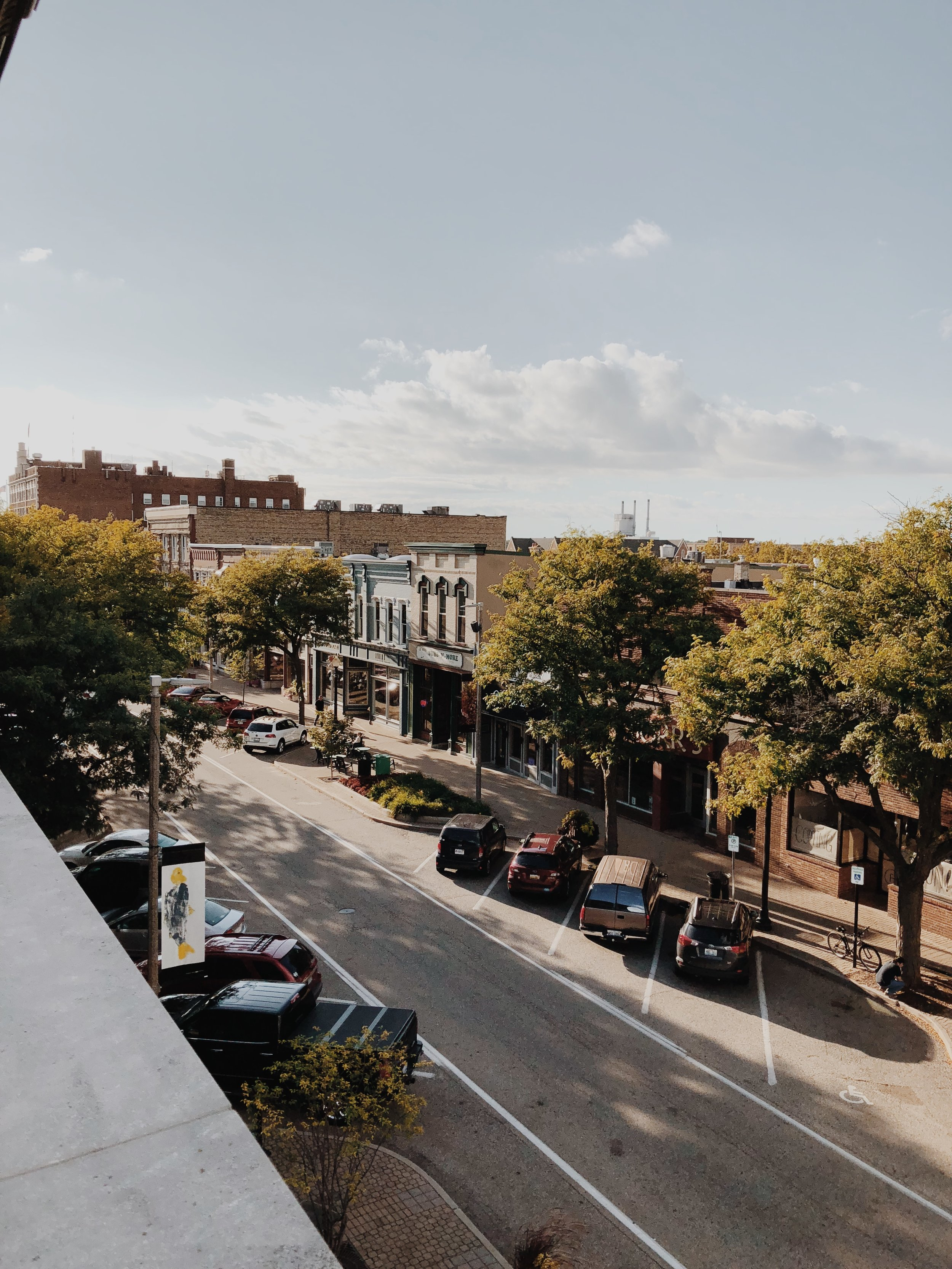 Downtown Holland as the season of Autumn Approaches.