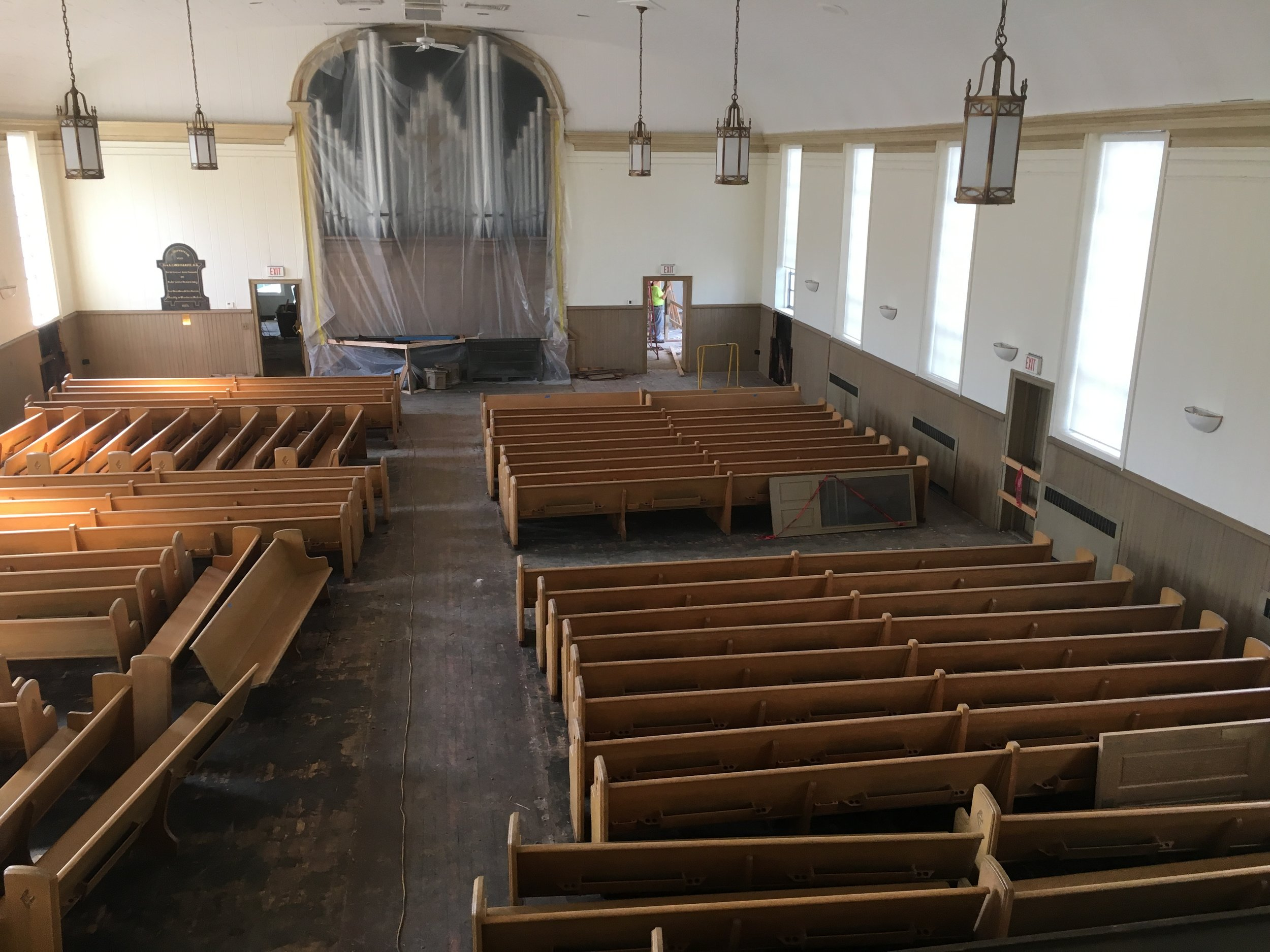 The sanctuary towards the beginning of demolition.