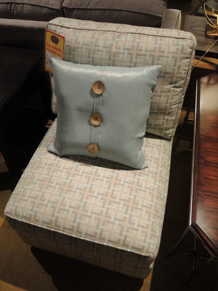 lee armless chair $995 -