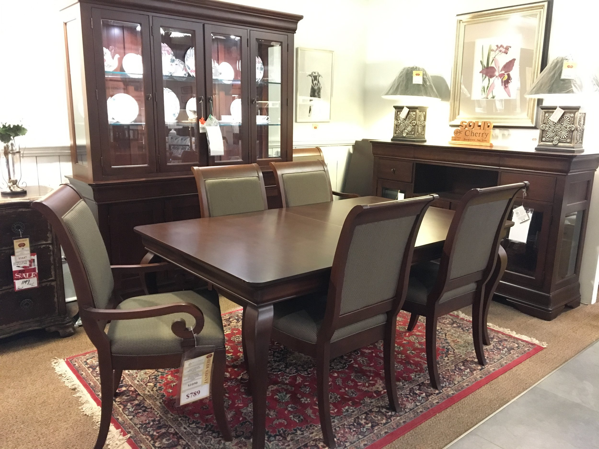West Bros Dining Table $5189buffet and hutch:$4985 -