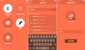 Screen shots from the Streaks app