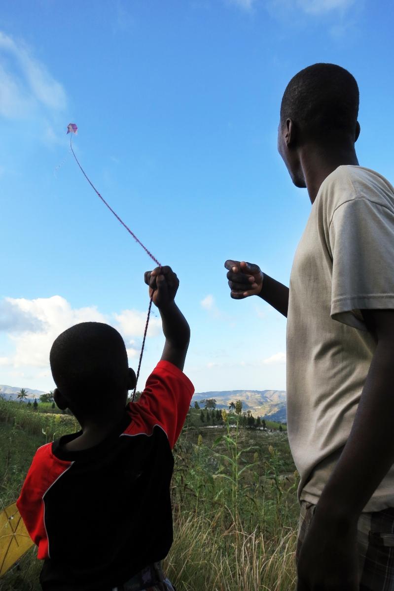 Kite Festival, outside Jakmel, Haiti