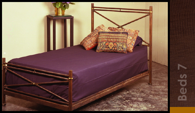 Brass Wrapped Bed