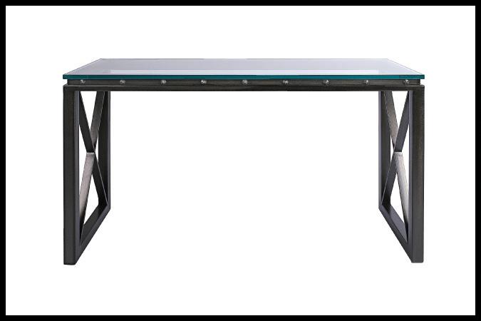 "Console Table Size Shown: 20"" x 58"" x 32""H Ebony Finish"