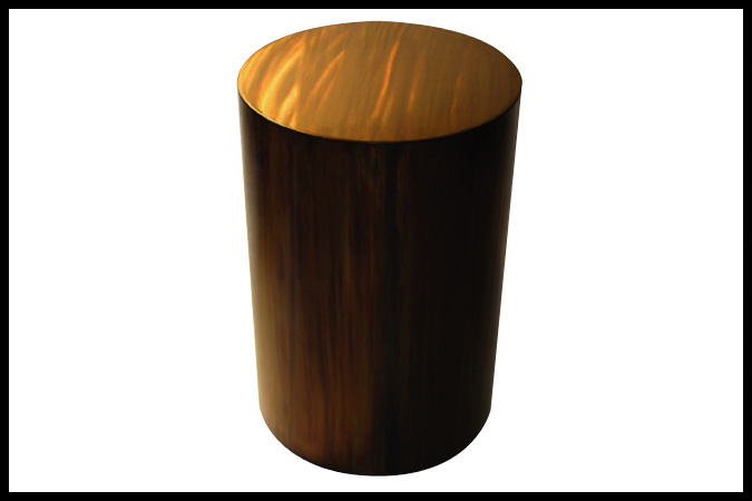 "Side Table Size Shown: 20"" Dia. x 29""H Burnished Iron Finish"