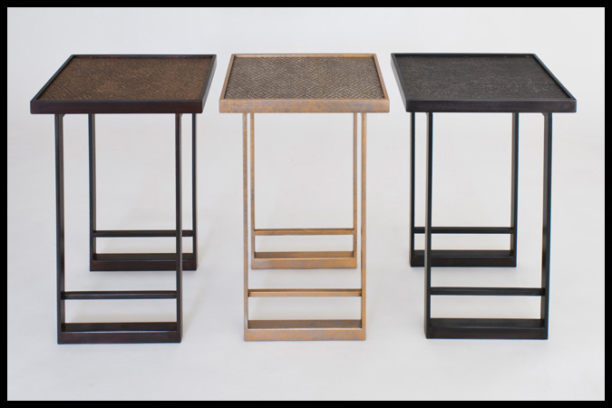 "Drink Tables Size Shown: 12 x 15 x 23""H Assorted Finishes"