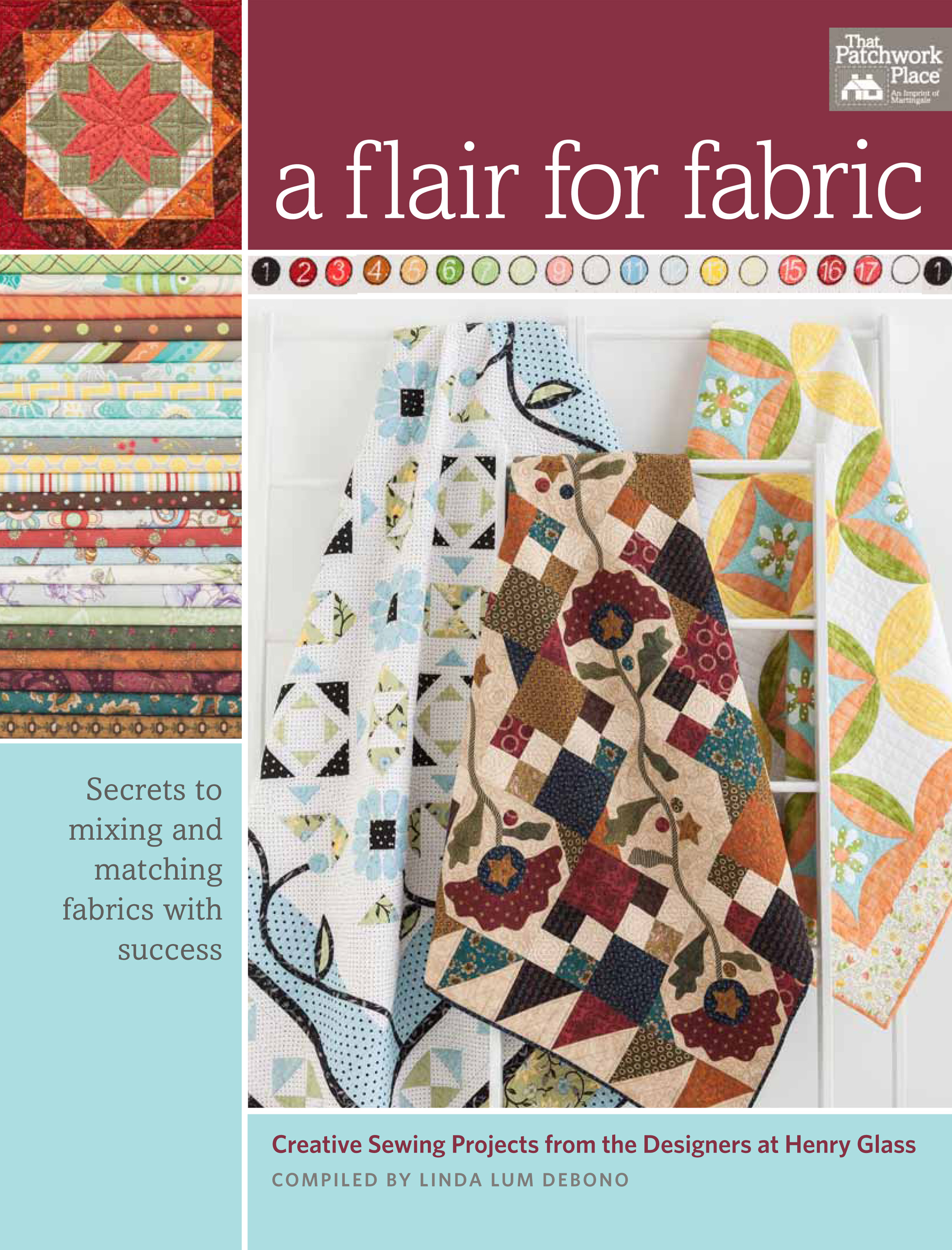 A Flair For Fabric. Compiled by Linda Lum DeBono. Published by Martingale & Co.