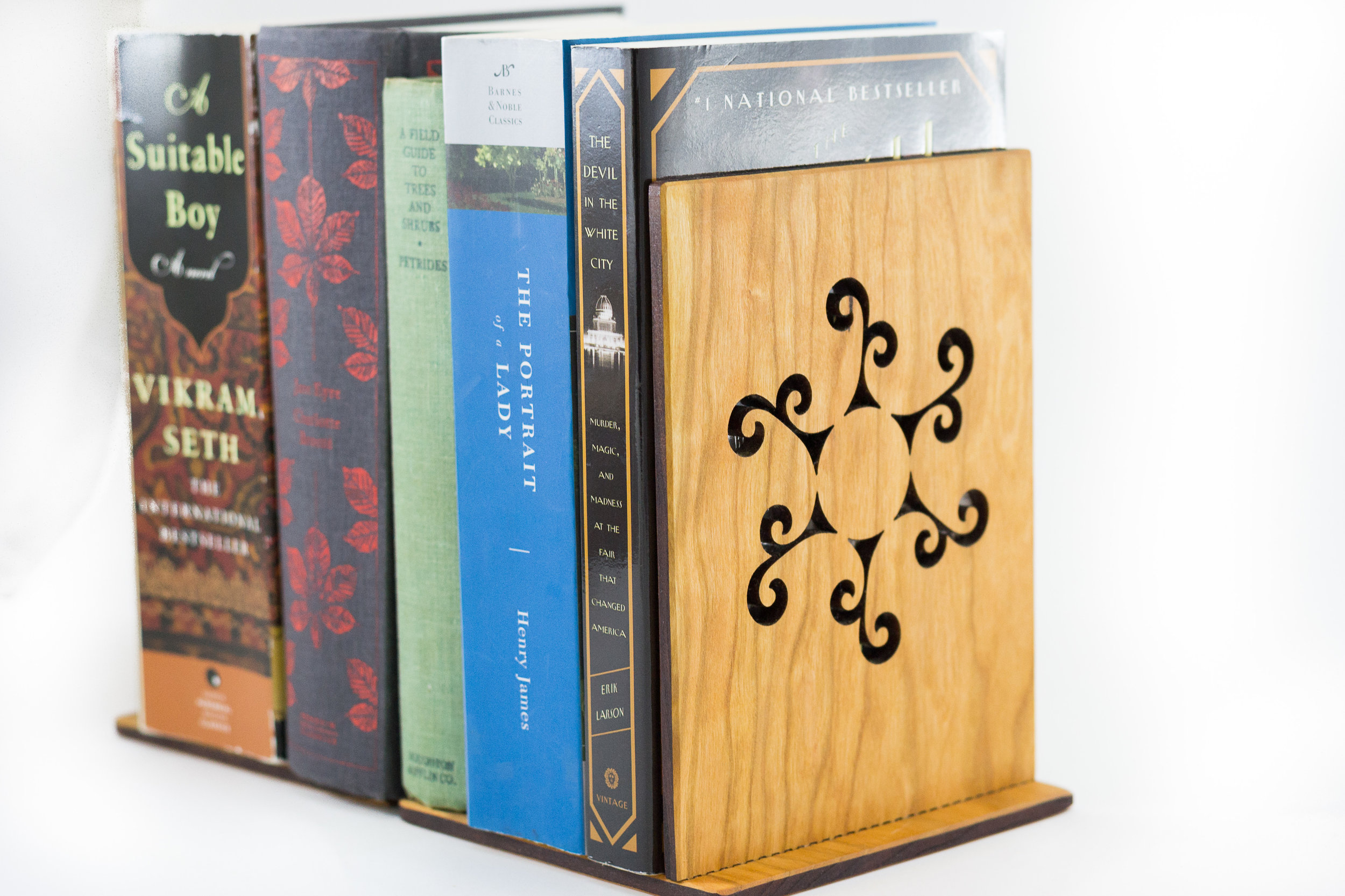 4. Book Ends - If your student is more likely to get caught up in a book than they are to get caught up in a digital screen, the book ends would be a better fit. The book ends are designed to be light on their own, and take advantage of the weight of the books they hold.