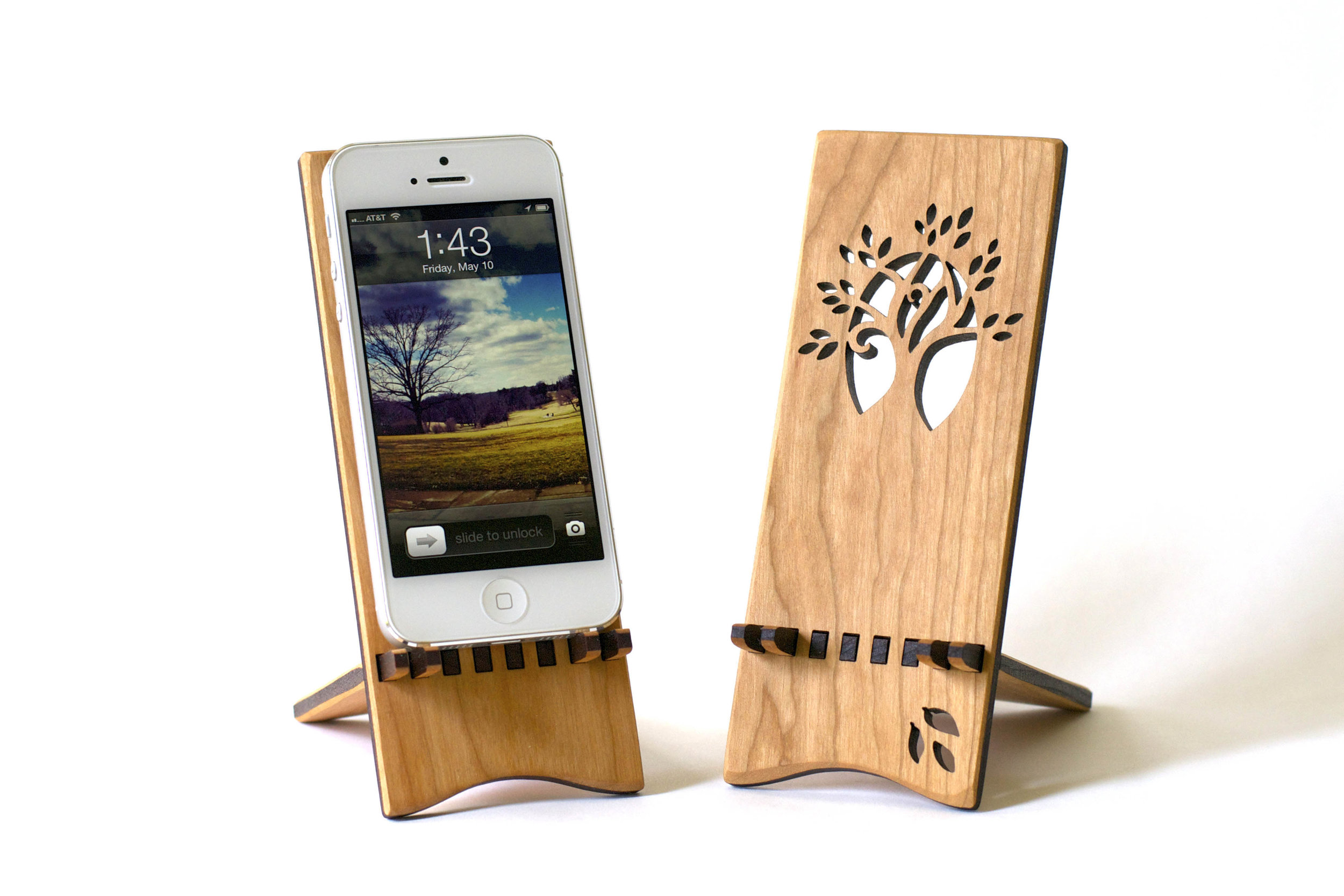 3. Smartphone Stand - A home for a phone. Designed so the phone can charge while it sits.