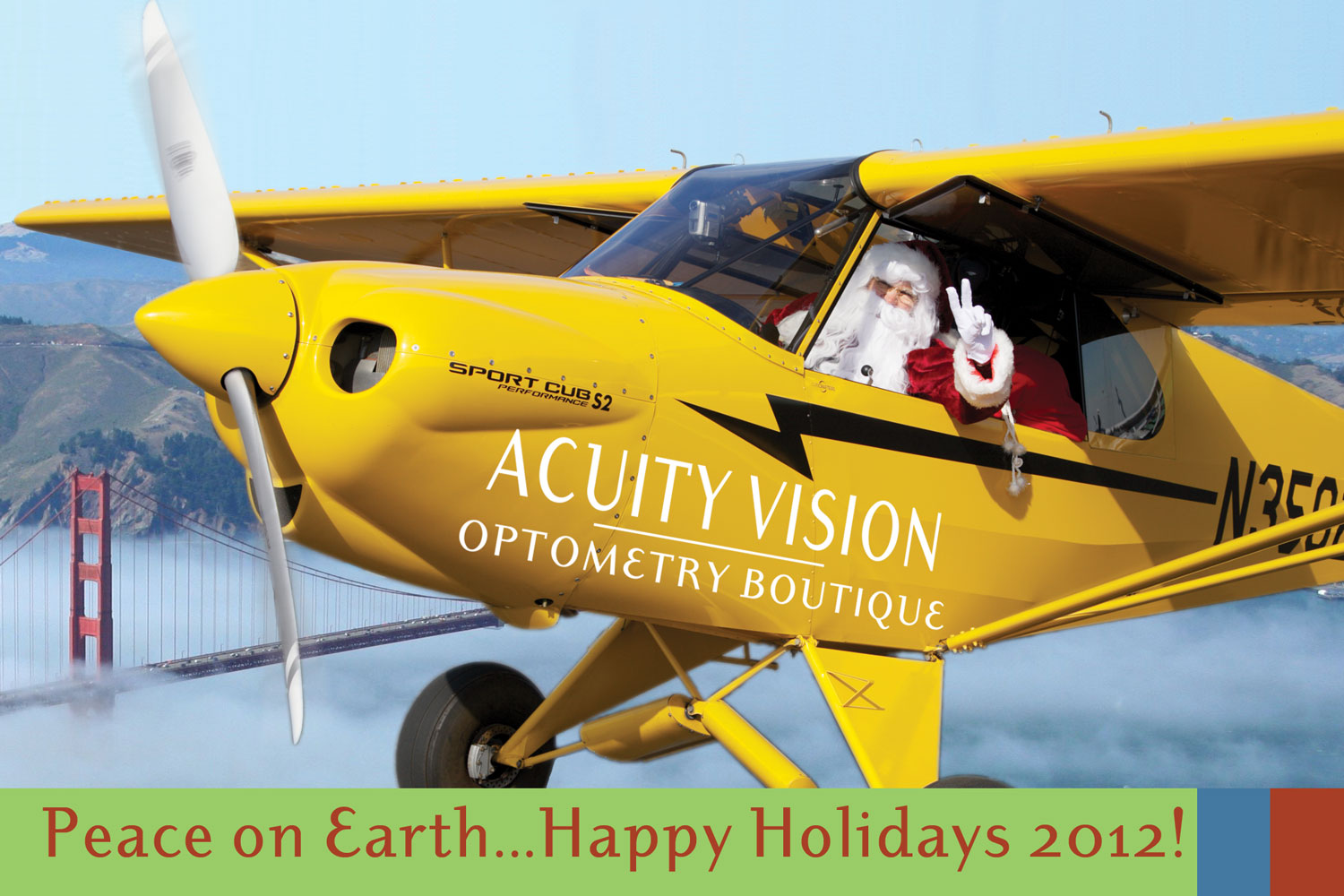 Photos with Santa at Acuity on December 8th, from 10am - 1pm