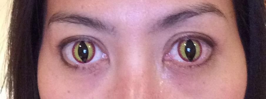 Dr. Schmidt sent her patients screaming like banshees with these crazy eyes (wearing Banshee contacts)