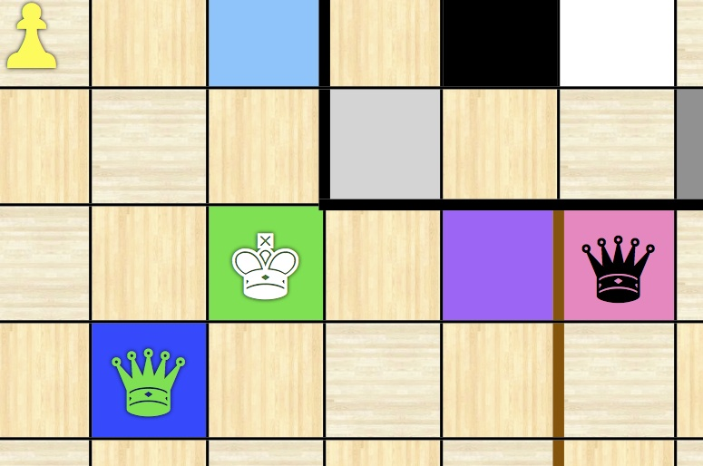 Figure 29: Black in Check, Controlling Green and Navy