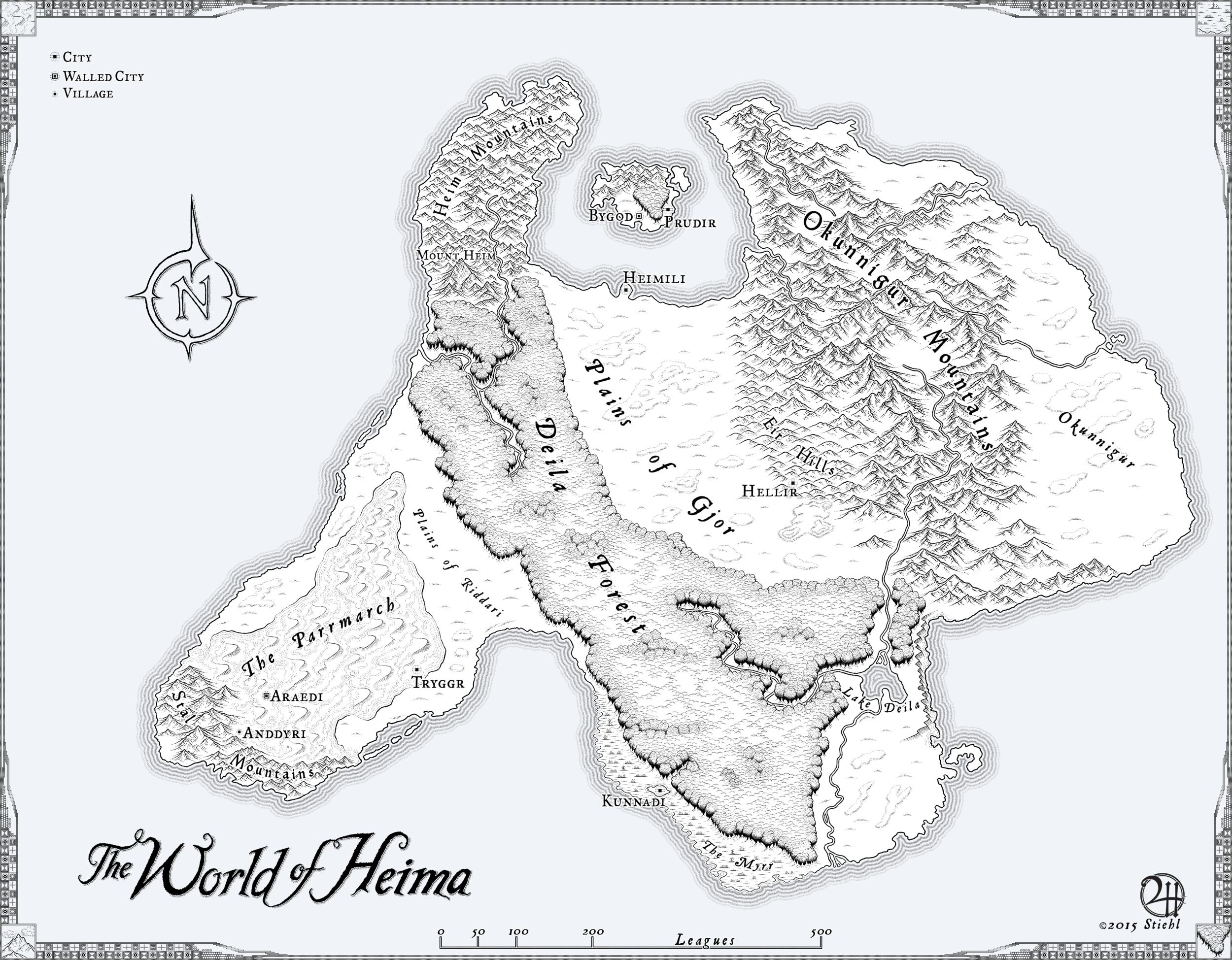 Map for Shawn Gunn's Novel