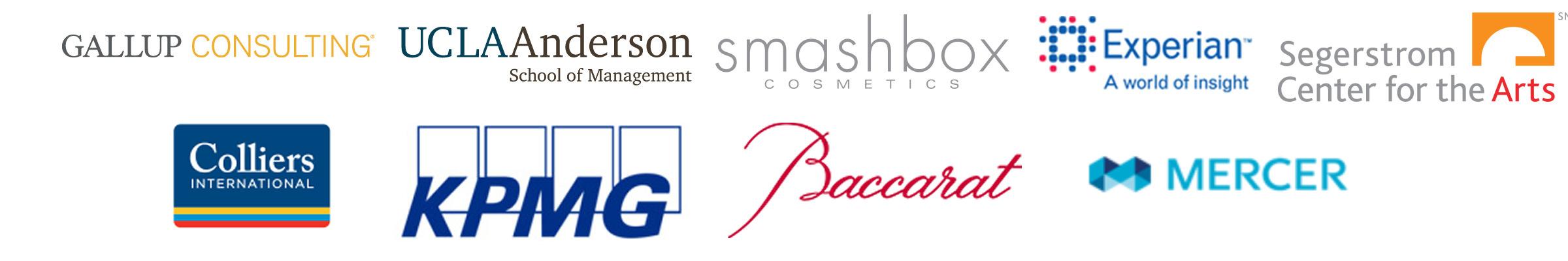 Many company logos from Leadership Vistas Symposium sponsors