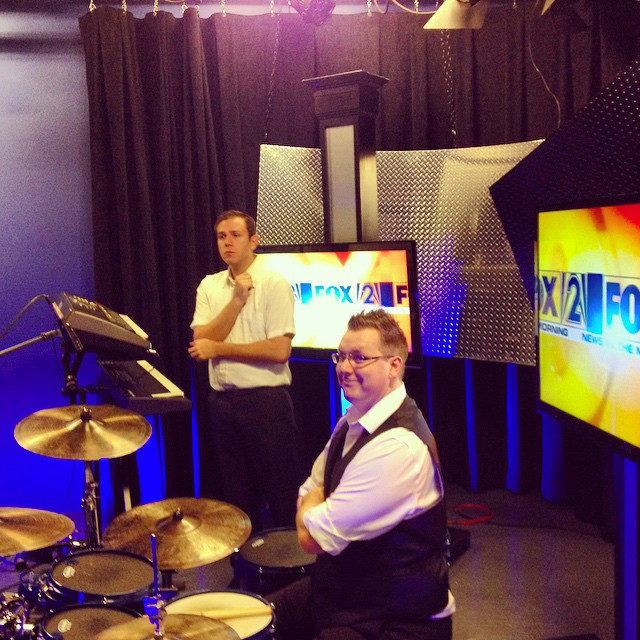 To help support the tour, we've done a few media events, including this one at Fox 2 news in St. Louis.