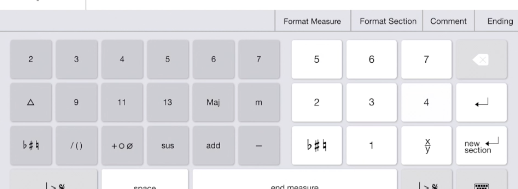 1Chart's very capable keyboard offers a host of awesome notation options.