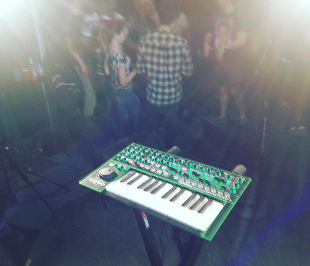 This video shoot with Mikei Gray was the rare exception where I used hardware only, in this case a single Roland Aira System-1 keyboard.