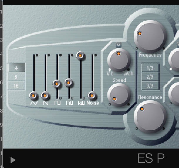 The ES P synth is super simple to use, and include all the basic oscillator types I cover in this blog.