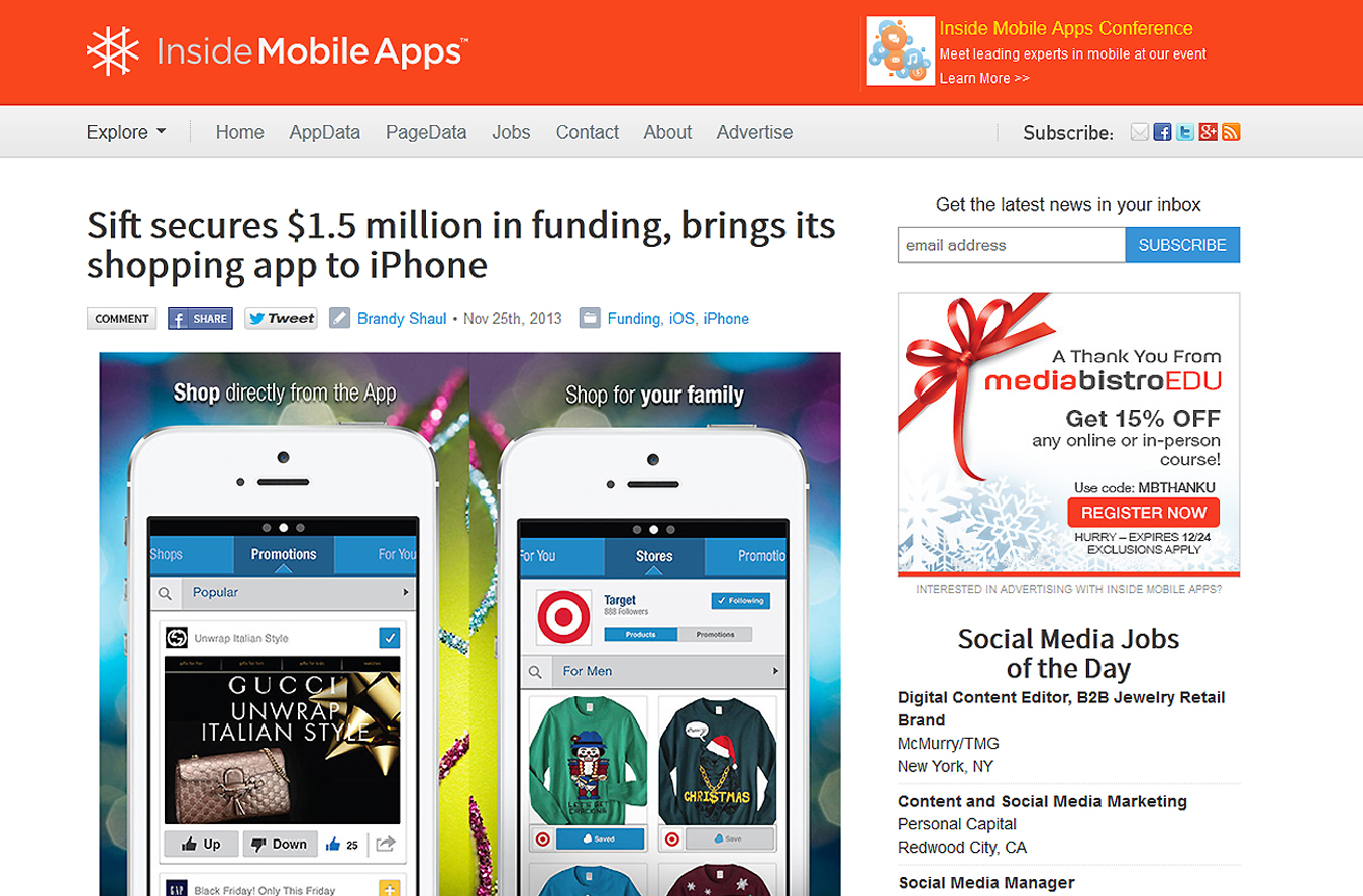 Inside Mobile Apps article