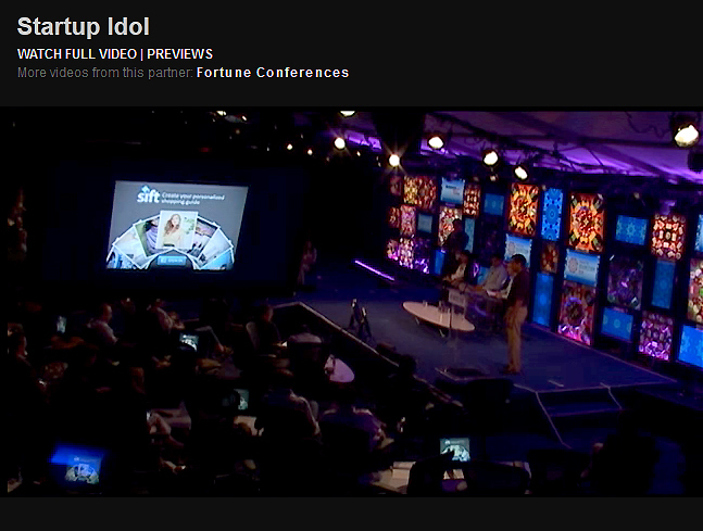 Sift presenting at Fortune 500's Brainstorm Tech competition