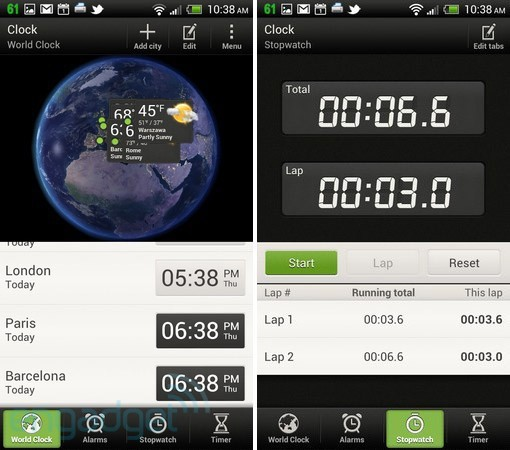 HTC Sense 4.0 World Clock