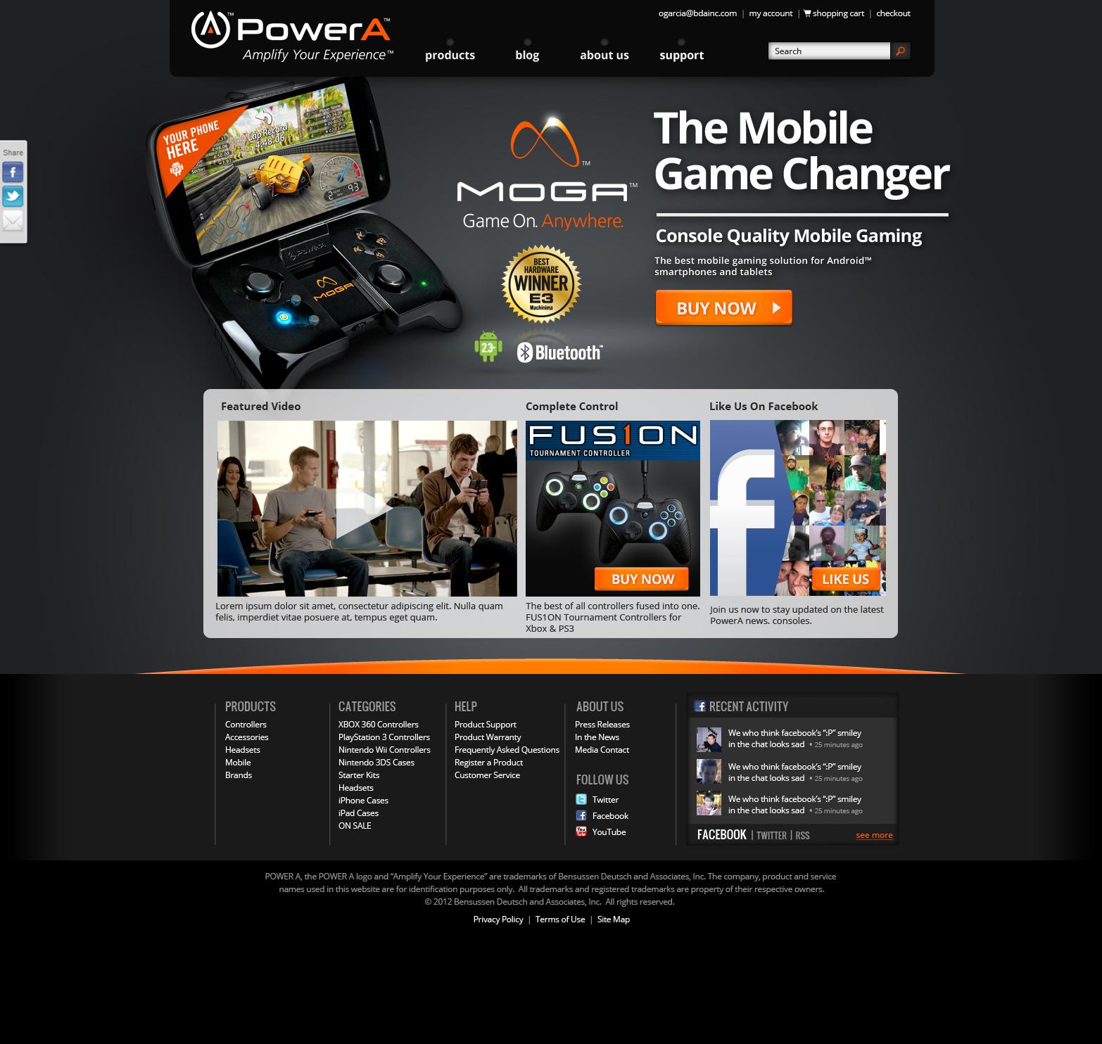 MOGA / Power A website.