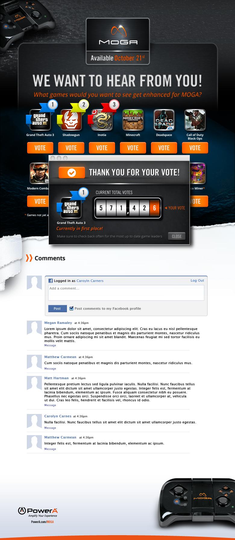Facebook voting app