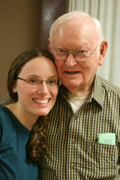 My Paw Paw and me right before we moved abroad.