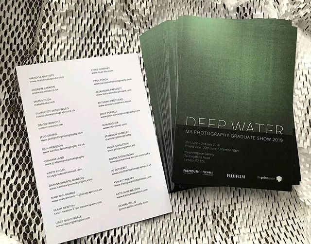 It's happening!! 🎉😍💥 ------ Reposted from @ffdeepwater2019 -  Don't forget!⠀ DEEP WATER⠀ Falmouth MA Photography Graduate Show⠀ ⠀ 21st June – 2nd July 2019⠀ Open: 9am to 7pm Monday to Friday ⠀ Private view:  20th June 7.30pm to 10pm⠀ ⠀ theprintspace Gallery⠀ 74 Kingsland Road, ⠀ London E2 8DL⠀ England⠀ ⠀ The first Falmouth Flexible MA Photography Graduate Show dedicated to 2018 and 2019 graduates.⠀ ⠀ #FFdeepwater2019 #Falmouthflexiblephoto #falmouthuniversity #falmouthflexible #fujifilm #theprintspace @FFdeepwater2019 @iop_falmouth @falmouthflexiblephoto @falmouthuni @fujifilmeu @theprintspace