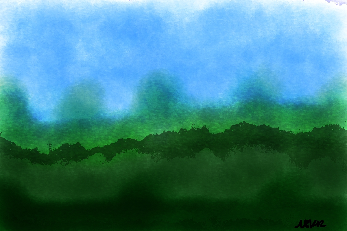 'watercolor practice' made with corel painter.