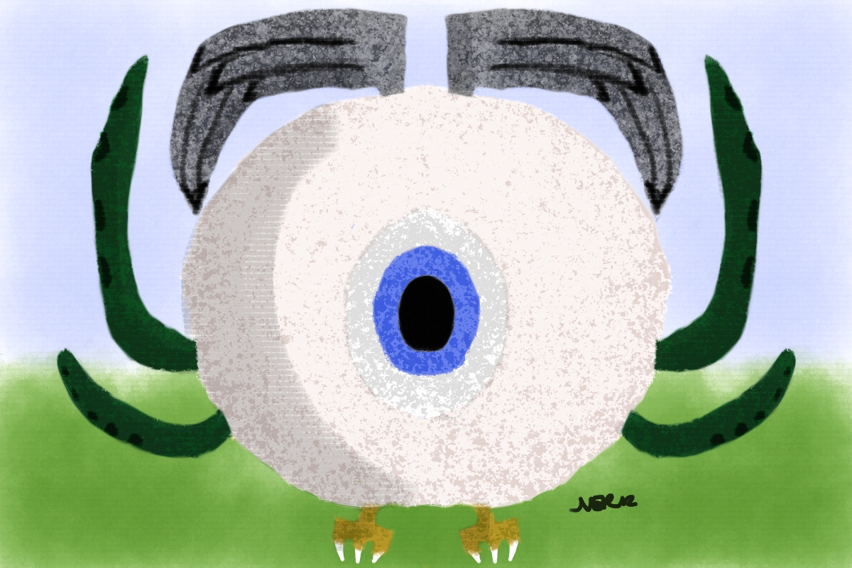 Worst Scary Eye Creature Ever, made in corel painter