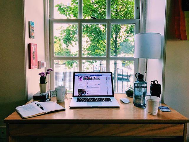 Senior year desk setup 🤗