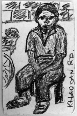 Khao San Rd,grease pencil, 2002