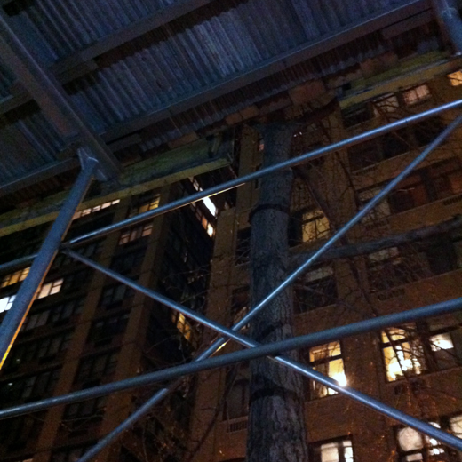 scaffolding city, shot 207