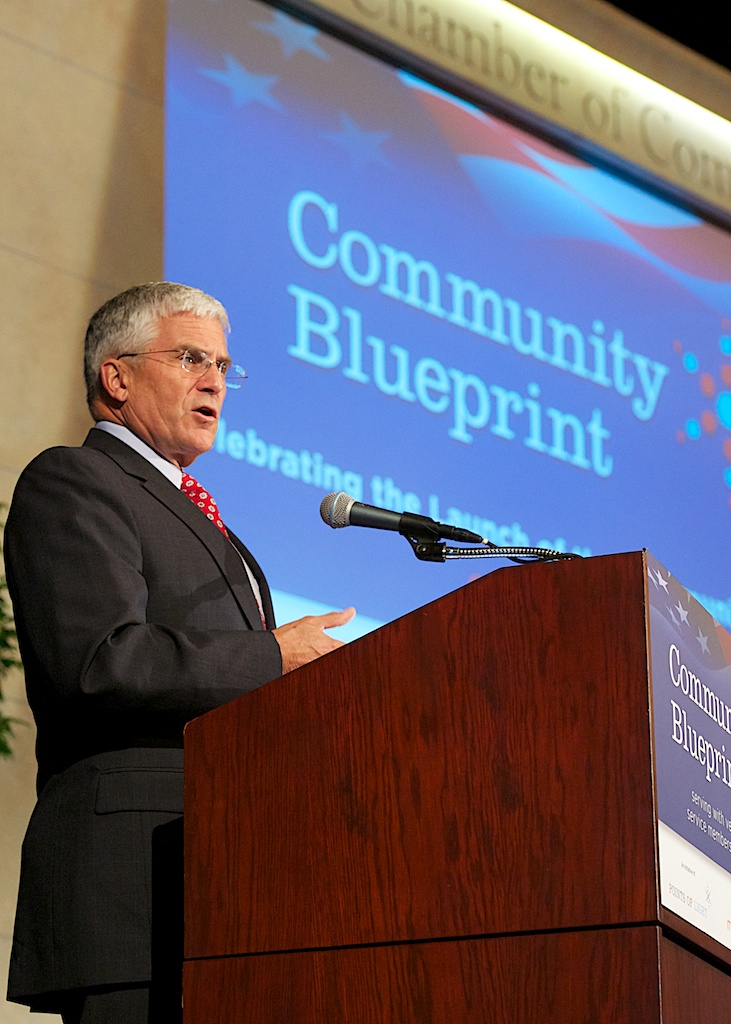 "Gen. George W. Casey, former Chief of Staff of the U.S. Army, gave the keynote address, calling the Community Blueprint ""the largest collaborative effort in support of the military community to date."""