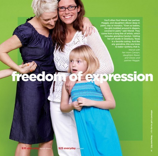 """JCP chose this image as their """"statement"""" of support."""