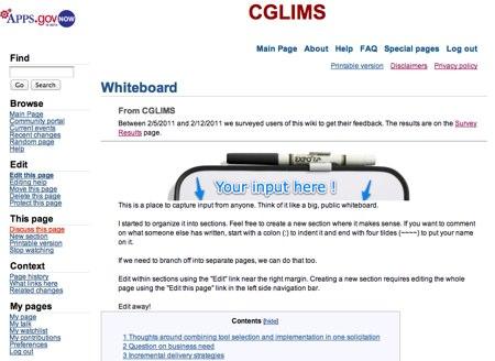 https://wiki.citizen.apps.gov/CGLIMS (via the Wayback Machine)
