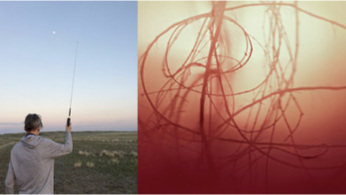 from left to right: Dana Claxton  The Protector  2017 | Judith Albert  Black Hole  2016 | Nik Forrest  On site research  2018 | Katrin Freisager  Landscape  2010