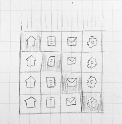 A sprited navigation bar sketch