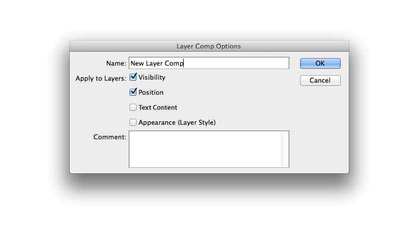 Adding the option to have Text Content captured in Layer Comps