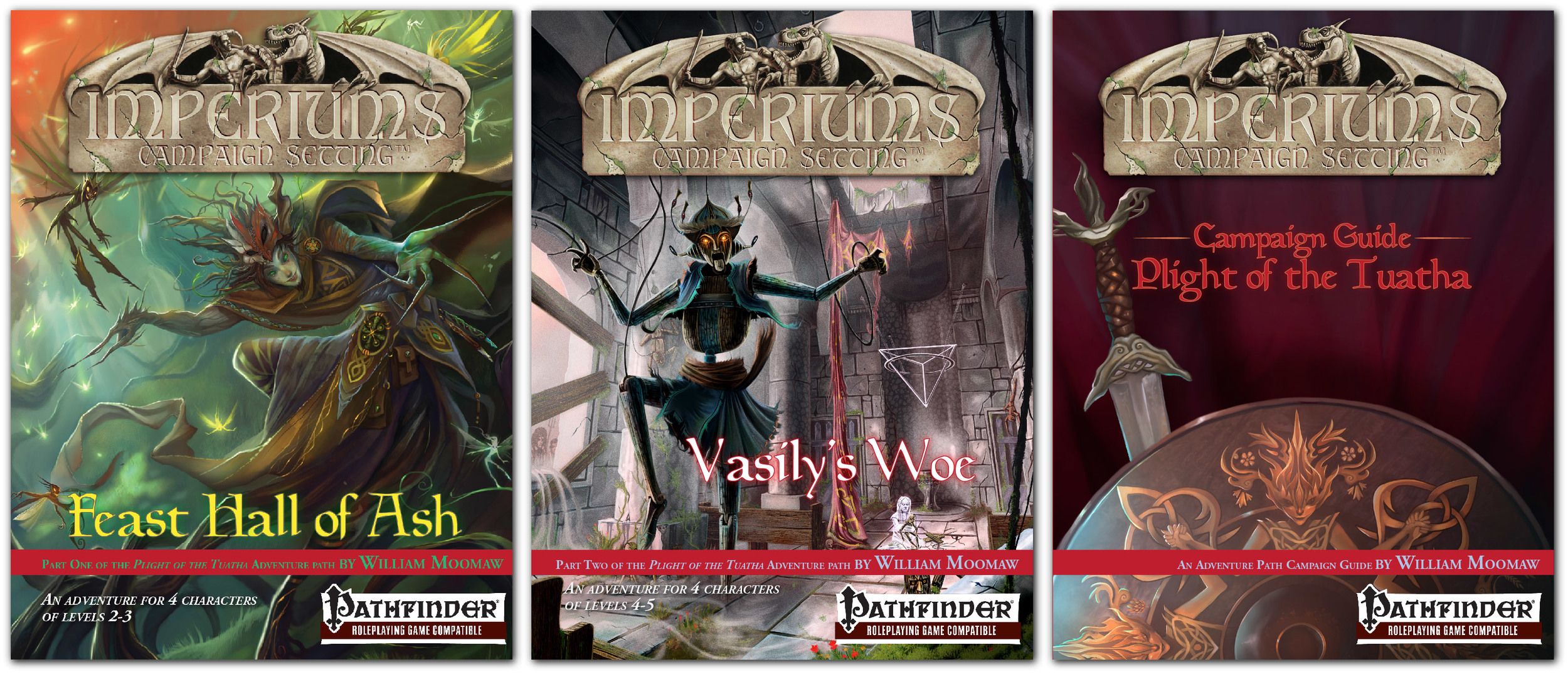 Covers of Part 1 & 2, and the Campaign Guide