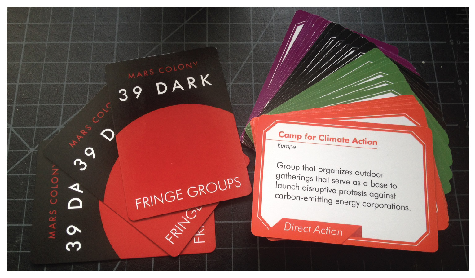 Finished Fringe Group Deck