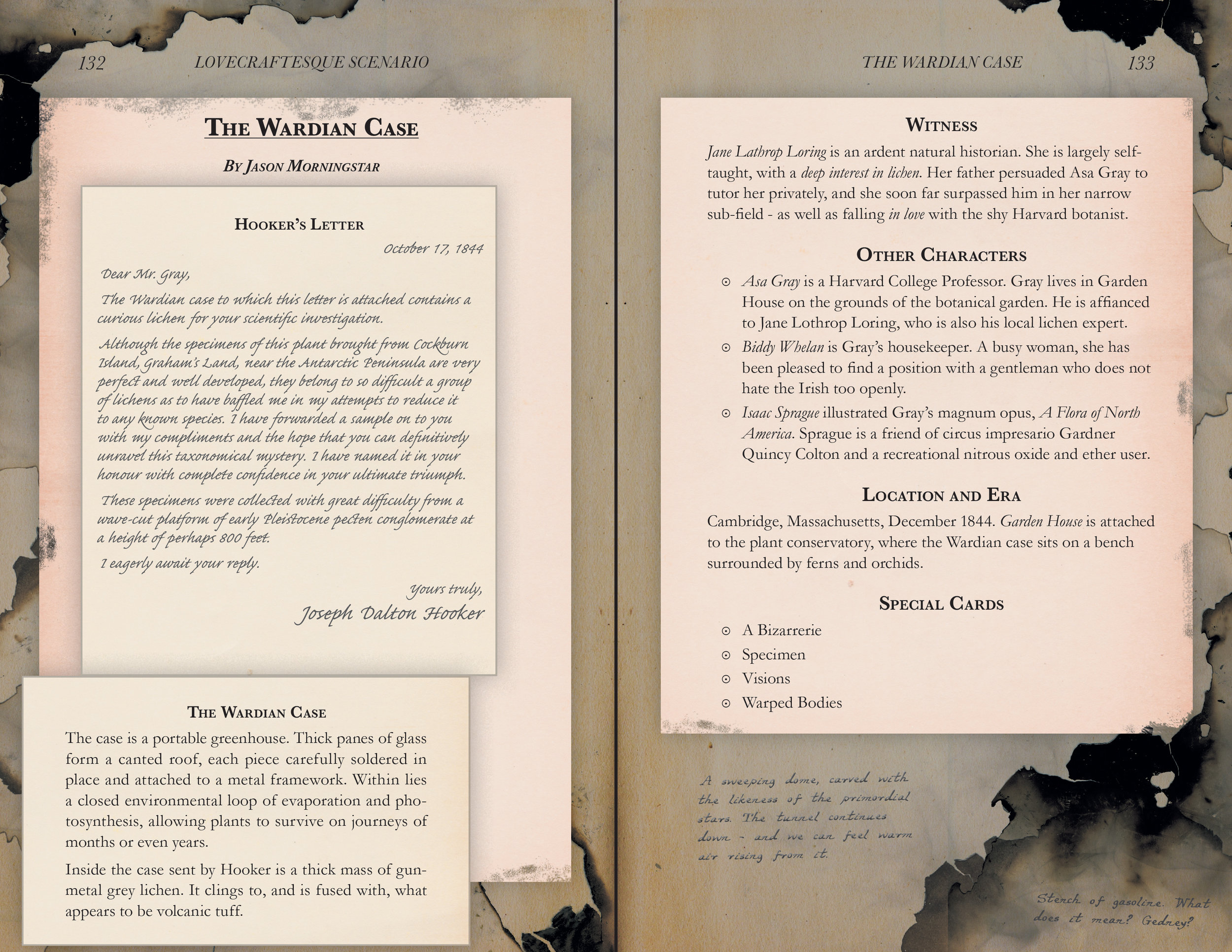 Spread from later in the book, more distressed graphics while preserving readability.